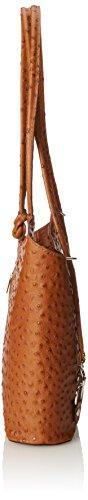 Spalla Borsa Donna 28x30x9cm CTM di a in 100 da Italy Pelle Pelle Vera Struzzo in Cuoio Made IfwBRBdq