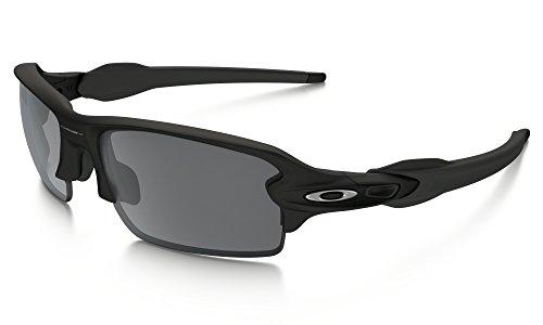 Oakley Flak Jacket 2.0 Sunglasses Matte BLK / BLK Irid. & Cleaning Kit - Black Jacket Matte Flak Oakley
