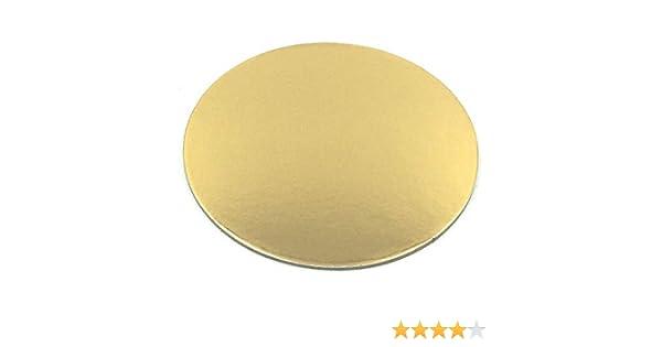 Cartón para tarta de 30 cm de diámetro y 3 mm de grosor con revestimiento, molde para cortar redondo, color dorado: Amazon.es: Hogar