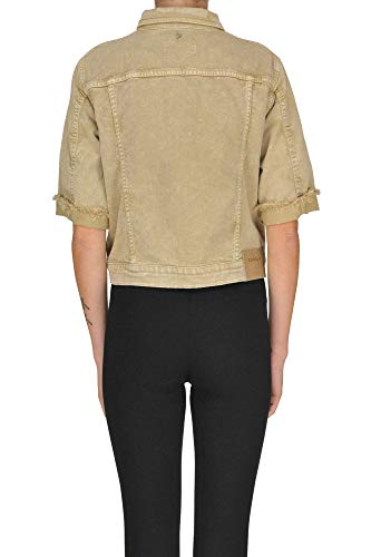 Mcglgsg000005052e Woman Dondup cotone Giacca beige in 0Ux60qRSfW