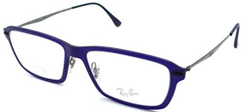 261cdab310 Ray-ban Rx Eyeglasses Frames Rb 7038 5451 53x16 Matte Blue LightRay - Buy  Online in UAE.
