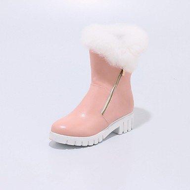 RTRY Zapatos De Mujer Polipiel Primavera Moda Invierno Botas Botas Chunky Talón Puntera Redonda Botines/Botines De Cremallera Para Oficina Informal &Amp; Carrera US5.5 / EU36 / UK3.5 / CN35