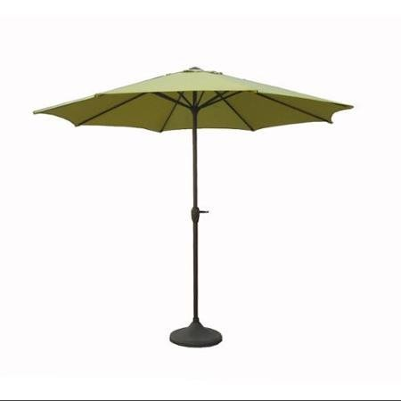 (9' Outdoor Patio Market Umbrella with Hand Crank and Tilt - Sage Green )
