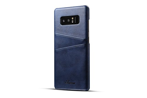 Price comparison product image Samsung Galaxy Note 8 Case ,TACOO Soft Pu Leather Slim Fit Protective Durable Fashion Two Card Slots Blue Phone Cover for Samsung Galaxy Note 8 2017