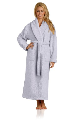 Plush Microfiber Robe - Soft, Warm, and Lightweight - Full Length, Lavender, Medium ()