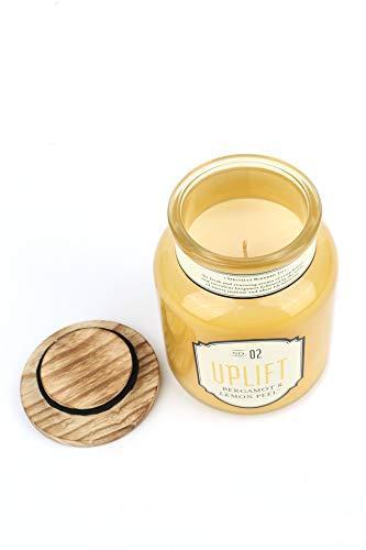 Amazon.com: Mardel Aromatherapy Jar Candle, Uplift, Bergamot & Lemon Peel Scent, 15 Ounces, 3-3/4 x 5-1/4 Inches: Home & Kitchen