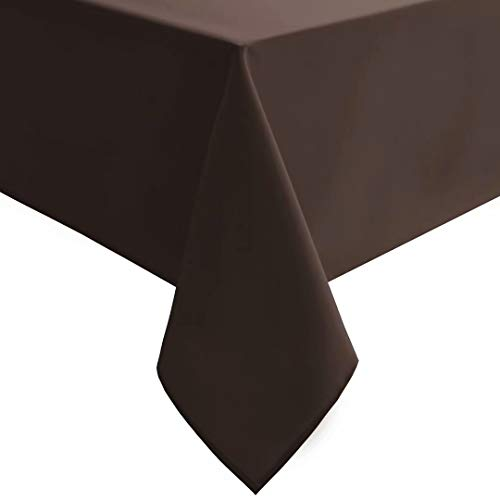 Hiasan Homedocr Rectangle Tablecloth – Waterproof, Stain Resistant and Wrinkle Resistant Table Cloth for Kitchen Dining Room Party, 54 x 108 inch, Chocolate