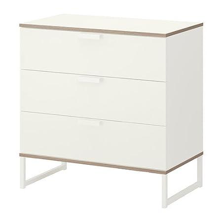 Ikea Trysil - Cassettiera con 3 cassetti, Colore: Bianco ...