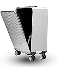 "Hot sale 24"" inch aluminium suitcase TAS LOCK 100% spinner business trolley luggage bag on wheel"