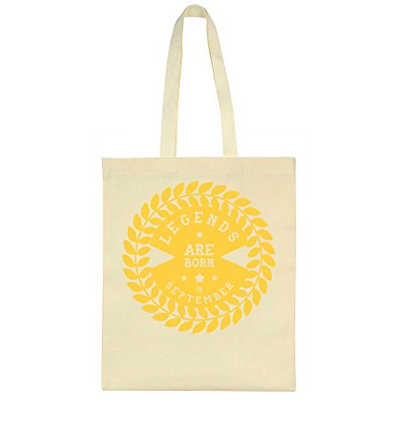 Cool Tote Ornamented September In Quote Legends Bag Born Are 0qI7q6U