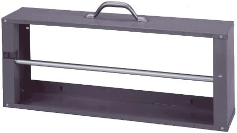 26-1//8 Width x 10-3//8 Height x 6 Depth Durham 383-95 Gray Cold-Rolled Steel Wire Spool Rack with Single Rod