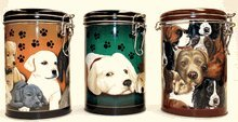 DOG LOCK TOP CANISTER TINS