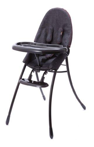 (Bloom Nano Urban Highchair, Matt Black/Downtown Denim)
