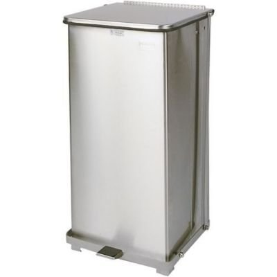 Rubbermaid Commercial Products FGST40SSRB Step-On Container, Square, Stainless Steel (40-Gallon) ()