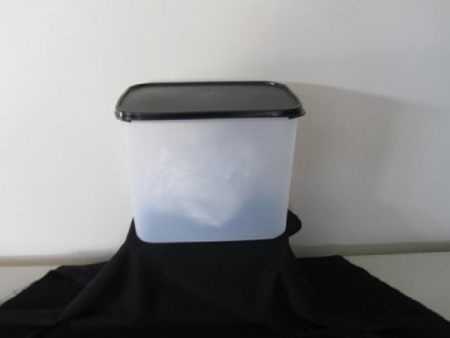 Tupperware Modular Mates Rectangle #4. Black Seals by Tupperware