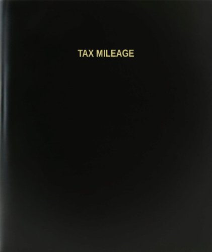 BookFactory® Tax Mileage Log Book / Journal / Logbook - 120 Page, 8.5