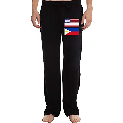 (Men's Jogger Sweatpants United States Flag & Philippines Flag Open Bottom Fleece)