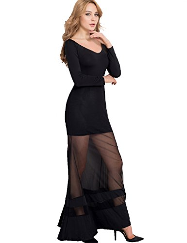 Ohyeah - Robe - Cocktail - Femme noir noir -  noir - M=34-36