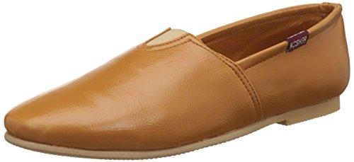 Kosher Men's Tan Leather Sneakers