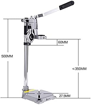 Electric Drill Stand Bench Drill Press Stand Hold Grinding Rack Stand Hanger Household Woodworking Machine Double