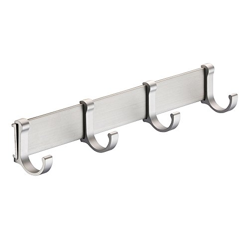 BOEN Coat Hook Rack/Rail with 4 Pronged Hooks Wall Mount Solid Aluminum,A2024H4-1 by BOEN (Image #7)