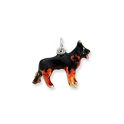 ver Enameled Medium German Shepherd Charm (18 x 22mm) ()