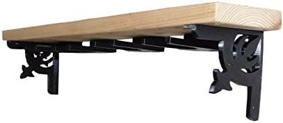 Hidden Creek Design Wine Rack Wall Mounted Solid Pine Shelf with Wine Glass Holders