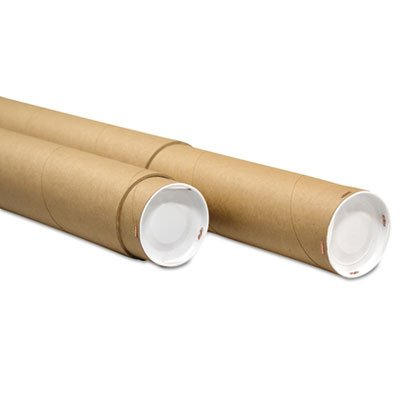 Adjustable Round Mailing Tubes, 30l - 60l X 3 1/8'' Dia., Brown Kraft, 12/pack by GenSupply