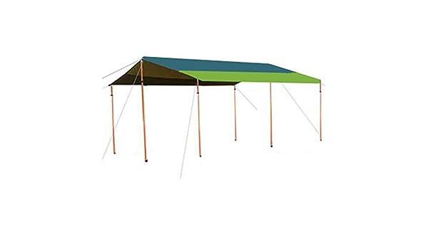 CAIJUN-Shade - Toldo de Tela Impermeable para Camping, Protector Solar portátil de Gran tamaño, pérgola de Apoyo Ajustable, 2 Estilos: Amazon.es: Jardín