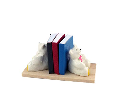 Melody Jane Dollhouse Teddy Bear Books in Bookends Miniature Nursery Toy Shop Accessory from Melody Jane