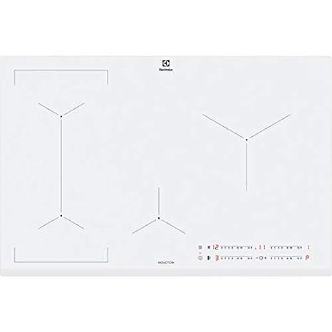 Electrolux EIV83443BW hobs Blanco Integrado Con - Placa (Blanco, Integrado, Con placa de inducción, Vidrio y cerámica, 2500 W, Alrededor)