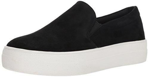 Steve Madden Women's Gills Fashion Sneaker, Black Suede, 8 M ()