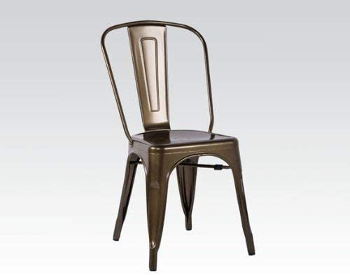 ACME Jakia Bronze Side Chair Set of 2