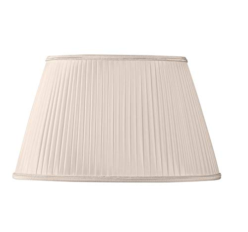 (Oval Pleated Lampshade - 40x25/ 25x18/ 24 (Hand Pleated) - Pink Shell)