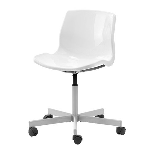 White Swivel Chair ON CASTERS Adjustable Height by IKEA