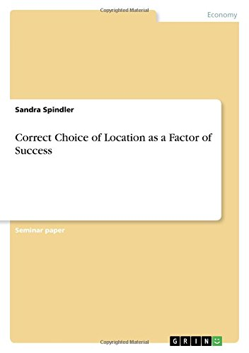 Correct Choice of Location as a Factor of Success pdf