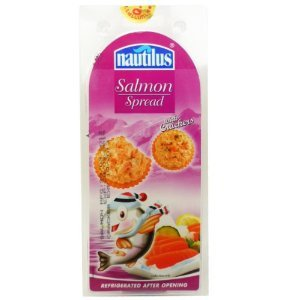 Nautilus Salmon Spread with Crackers Snack Food Set X 3 Sets