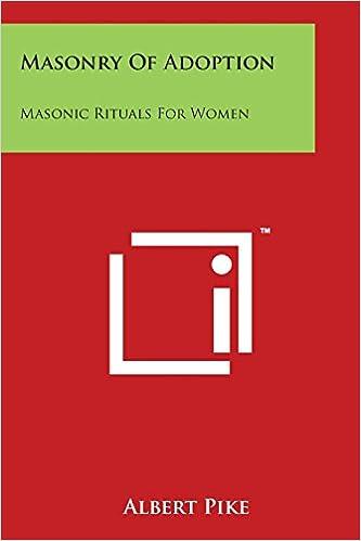 3a89b6325d85 Masonry Of Adoption  Masonic Rituals For Women  Albert Pike  9781497996687   Amazon.com  Books