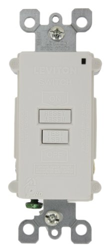 Leviton 7590-W 20 Amp 120 Volt, SmartlockPro Blank Face GFCI, with Dual Function Indicator Light, White