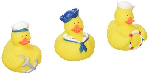 Nautical Rubber Ducks - 12 pc (Rubber Baby Theme Duck Shower)