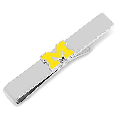 NCAA University of Michigan Tie Bar, Officially Licensed (Set Cufflinks Sapphire)
