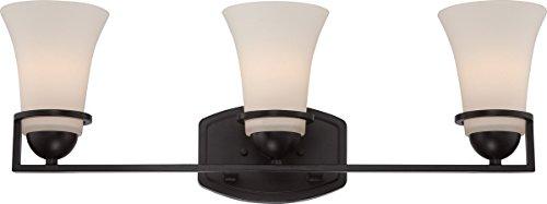 (Bathroom Vanity 3 Light with Sudbury Bronze Finish E12 Incandescent 25 inch 300 Watts)