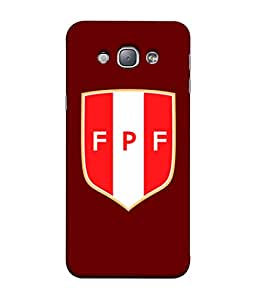 ColorKing Football Peru 07 Red shell case cover for Samsung A8