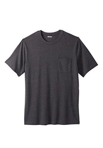 KingSize Men's Big & Tall Lightweight Crewneck Cotton Tee Shirt With (6xl 6x T-shirt)