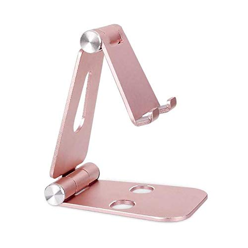 iMagitek Multi-Angle Portable Stand Compatible with iPad Pro/iPad Pro 9.7, iPad Air, iPad Mini, iPhone and Other Smartphones or Tablets (4-10 inch) - Rose Gold ()