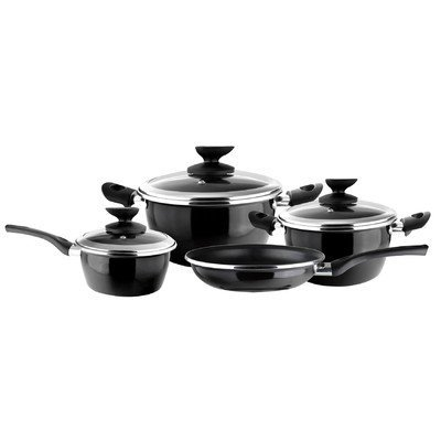 Magefesa 01BVFITN007 Fit Black Porcelain on Steel Cookware Set - 7 Piece by Magefesa (Image #1)