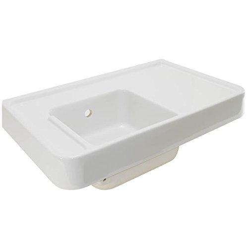 Sarreguemines - Evier Blanc Carré En Ceramique Semi Encastré 1