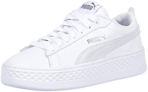 SHOPUS | PUMA Women's Smash Platform Sneaker, White, 8.5