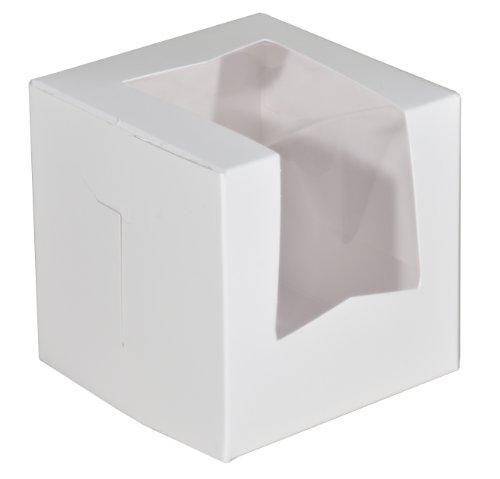 Southern Champion Tray 23033 Paperboard White Lock Corner Window Bakery Box, 4