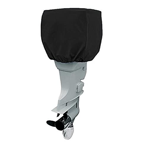 COCO Yacht Boat Engine Outboard Motor Cover Up to 115-225 Horsepower-Trailerable Heavy Duty Water, Mildew, and UV Resistant with Thick Polyester Fabric (Black,4 - Suzuki Outboard Engine